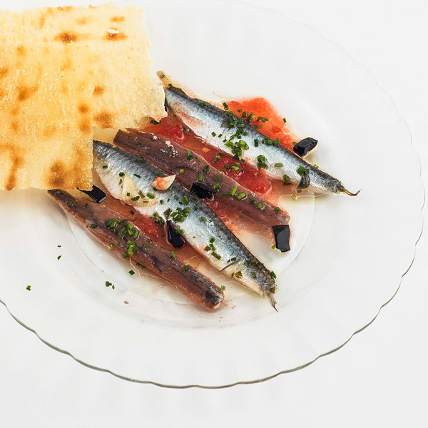 Matrimonio 2 Anchovies + 2 Boquerones with Balsamic gelatin