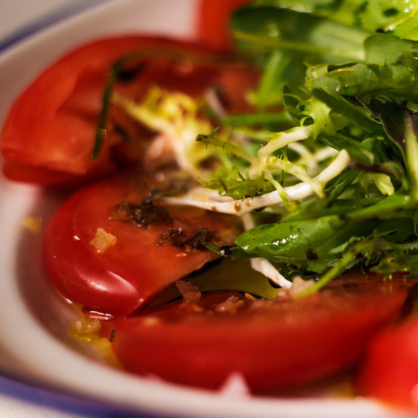 Assorted seasonal tomatoes salad